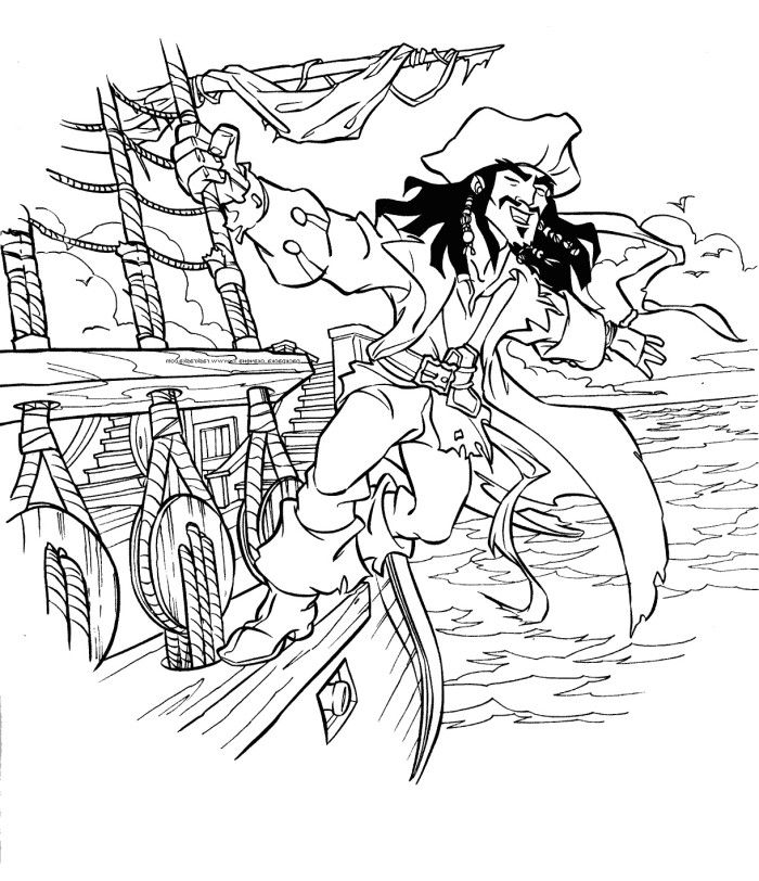 coloring pages jack sparrow - photo#19