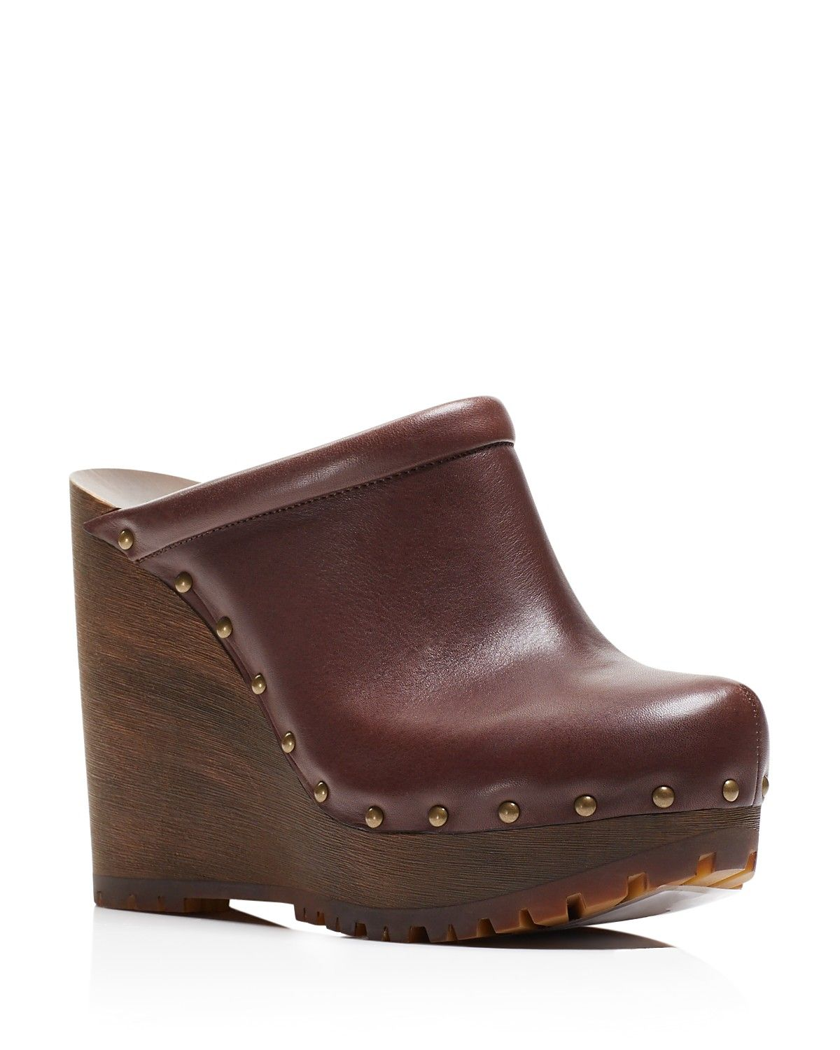 c1c6360f See By Chloé Clive Studded Platform Wedge Clogs | Mules and Clogs ...