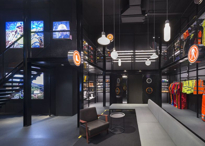 Durasafe safety equipment store by Ministry of Design