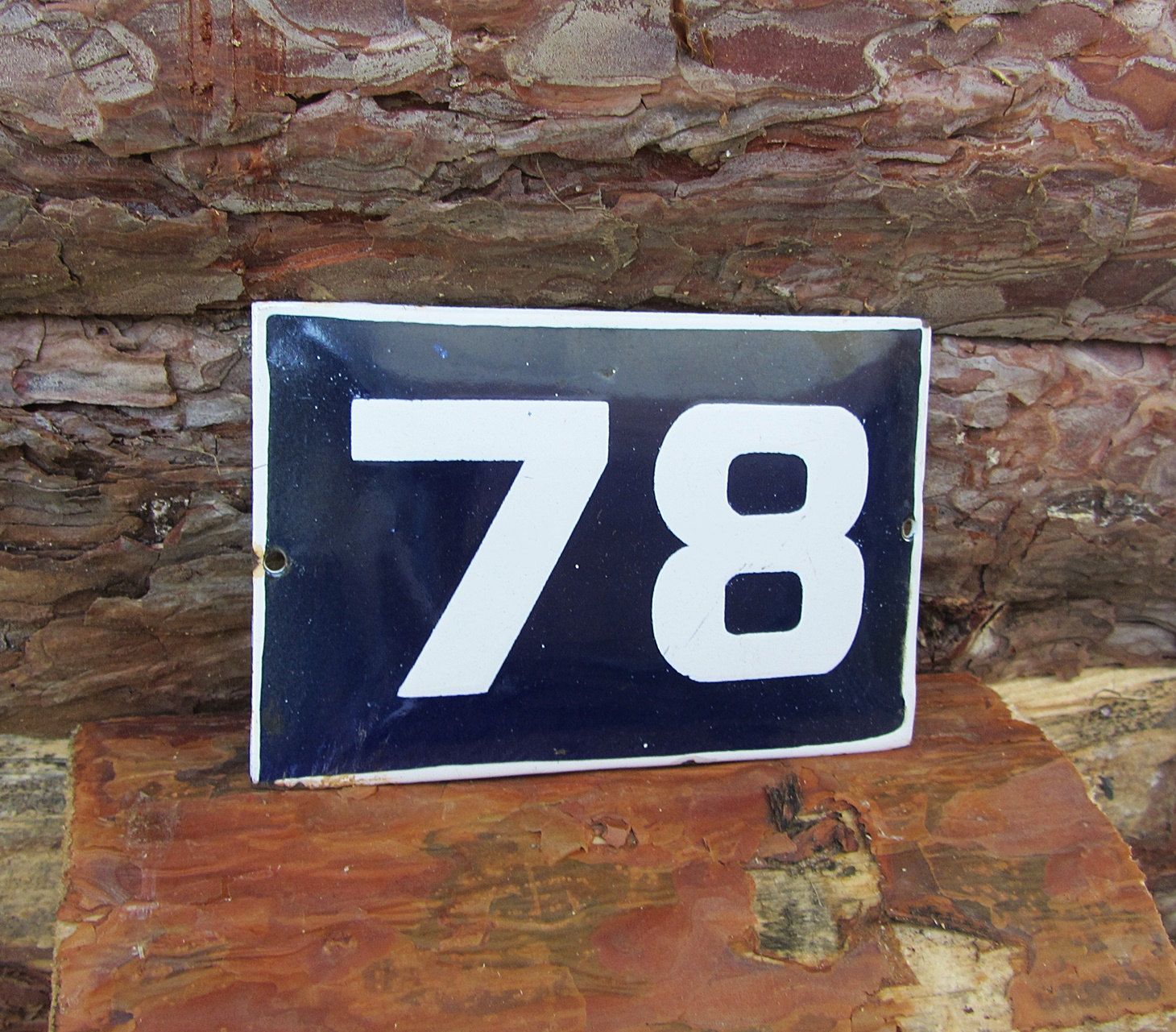 Vintage Enamel House Number 19 Sign Blue And White Door Numbers Antique Street Sign Enameled Porcelain Retro Home Decor Door Plate