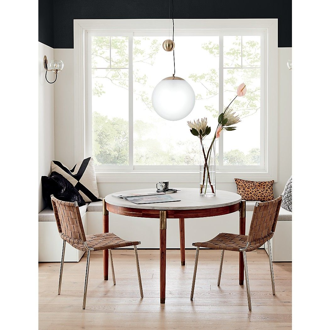 Polanco Round Dining Table Reviews Cb2 Modern Dining Room