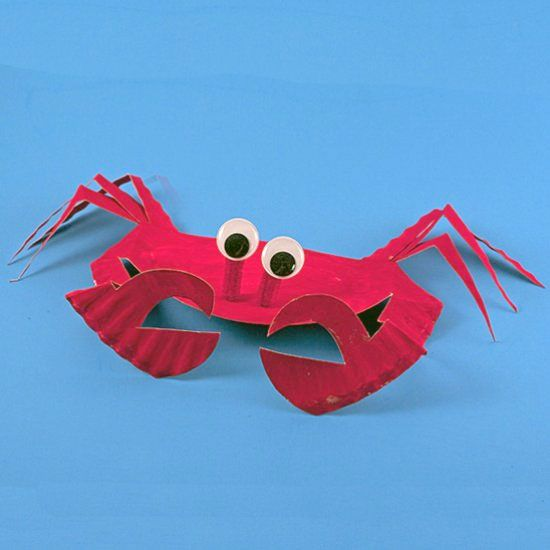 Learn how to transform an ordinary paper plate into this cute crab a fun summertime craft for your kids. | Paper | Pinterest | Craft Egg carton crafts and ... & Learn how to transform an ordinary paper plate into this cute crab ...