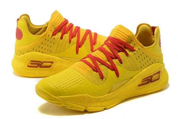 54b247900356 Under Armour Curry 4 VI Low Bruce Lee Golden Yellow Red