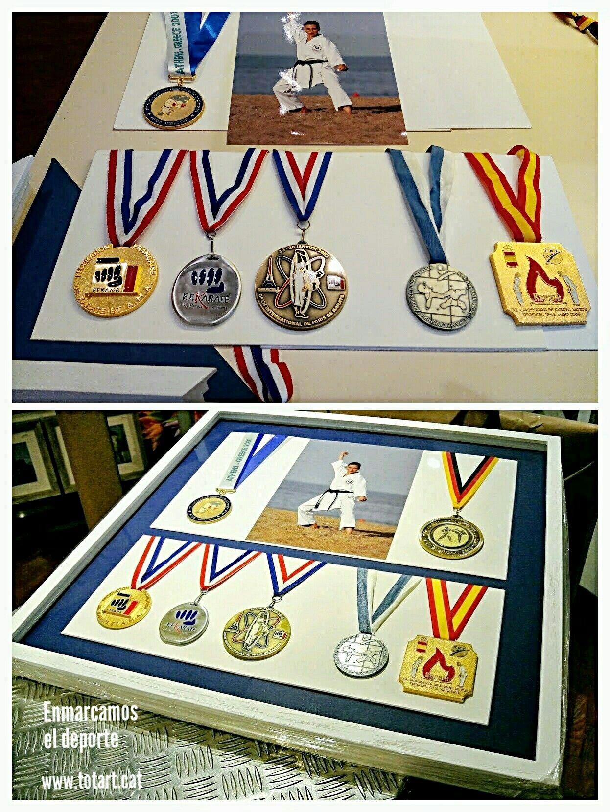 Marco a medida para medallas deportes | Marcos para el deporte ...