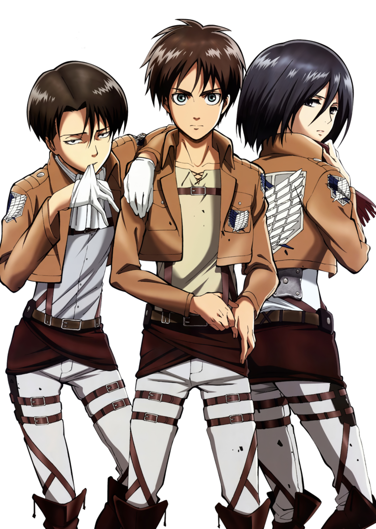 Shingeki no Kyojin Levi,Eren,Mikasa Png by bloomsama on ...