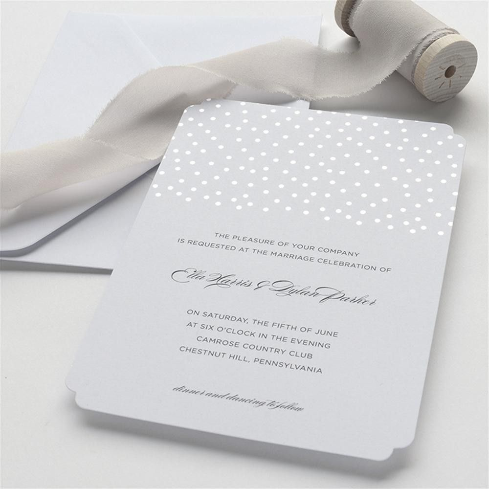 brides silver glitter foil dot wedding invitation kit - Brides Wedding Invitation Kits