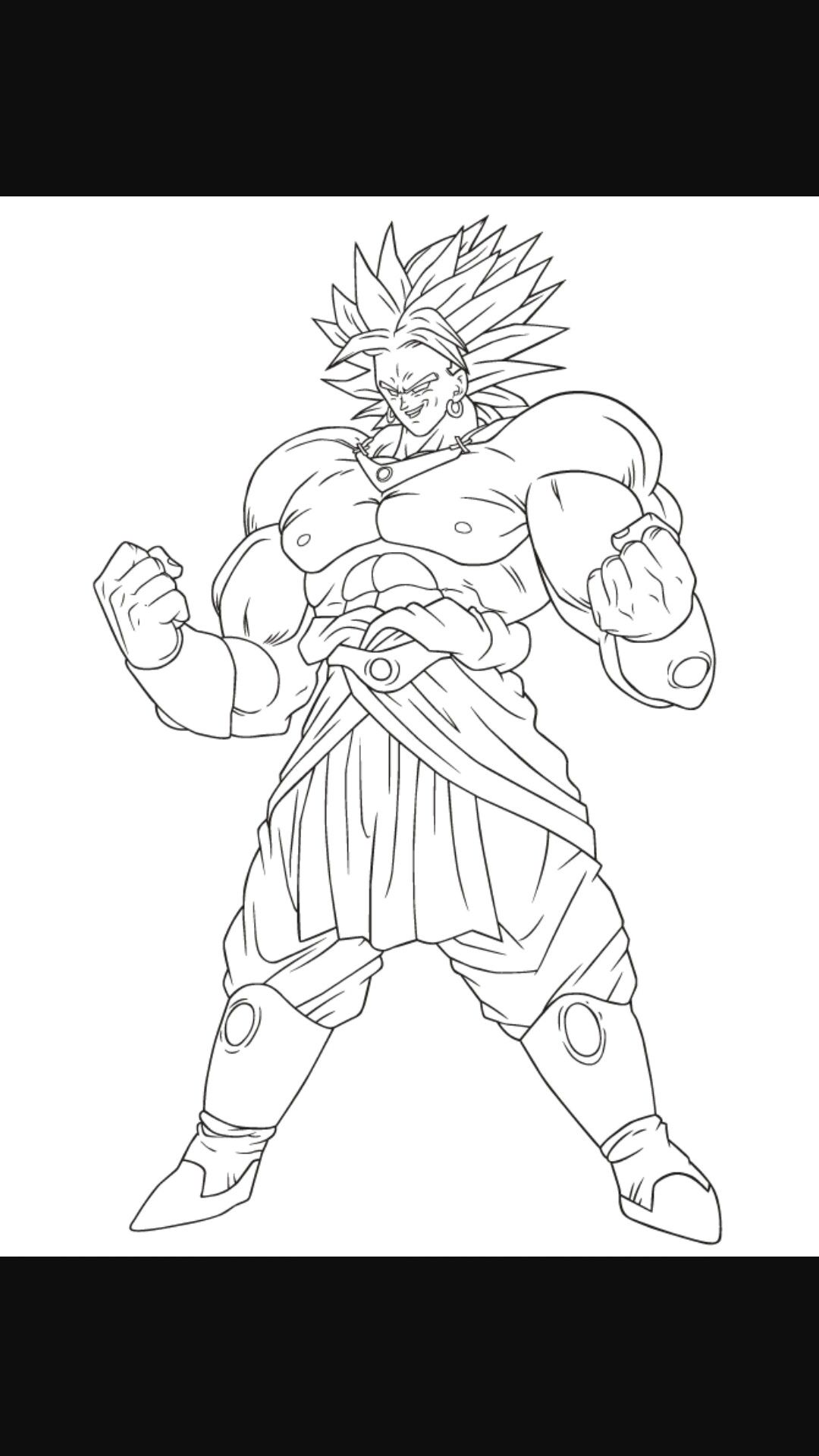 Broly coloring pages PrinceVegeta Hannah God bless