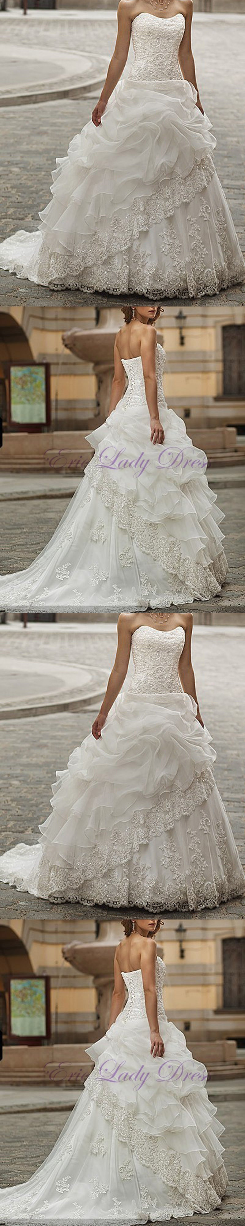 Wedding dresses long organza wedding dress bridal gown custom