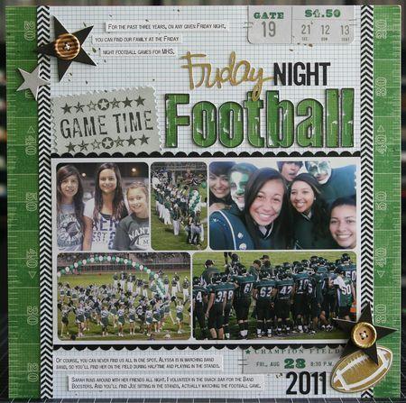 Scrapbook & Cards Today: Friday Night Football