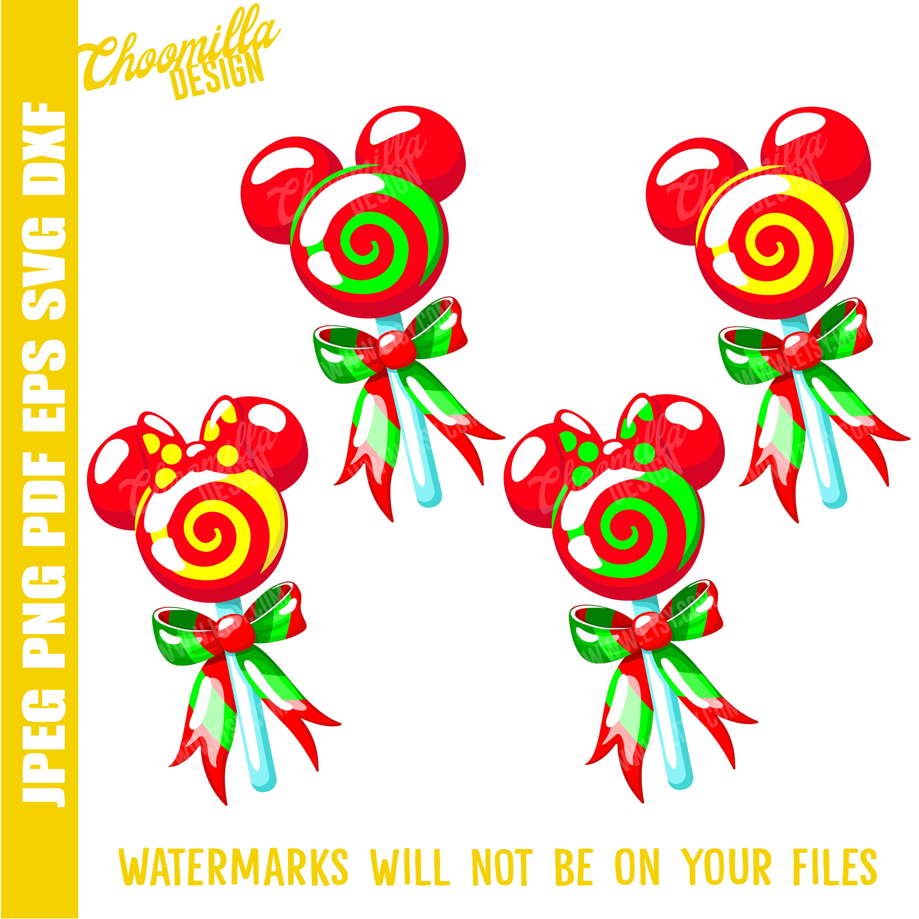 Hight quality Christmas Mickey lollipops svg, Christmas