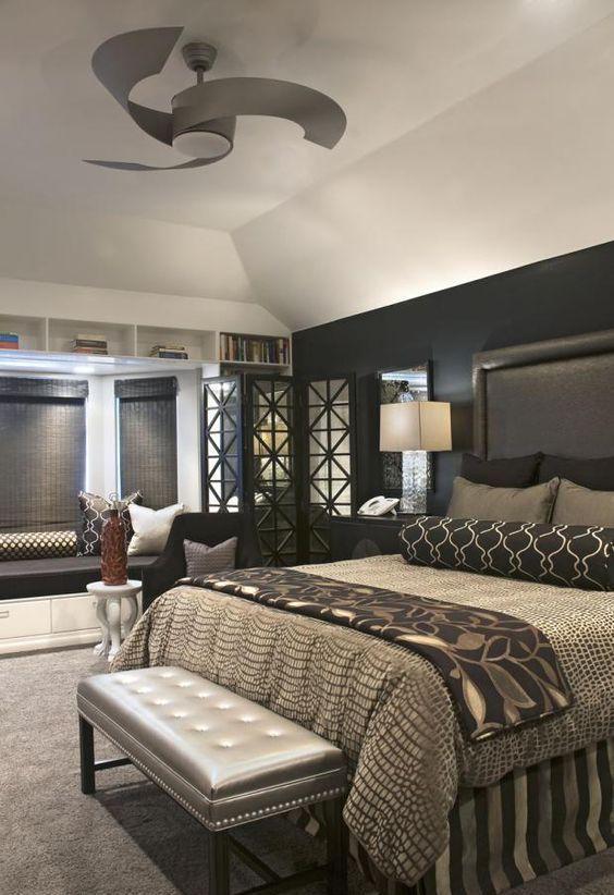 Ashleyfurniture Com Bedroom Sets: Modern Master Bedroom With Ceiling Fan #MasterBedrooms