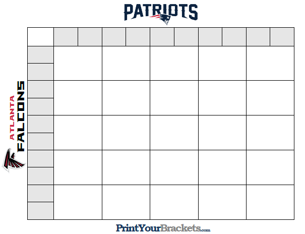 It is an image of Printable Super Bowl Boxes intended for pdf