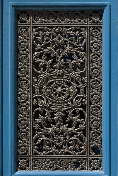 Iron Door Grate At 31 Rue Vieille Du Temple