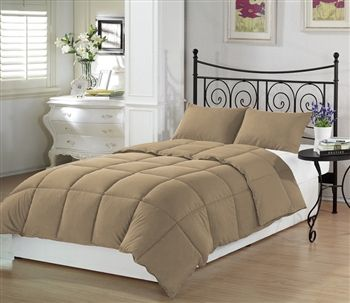 Beige Extra Long Comforter Set Is A Perfect Neutral