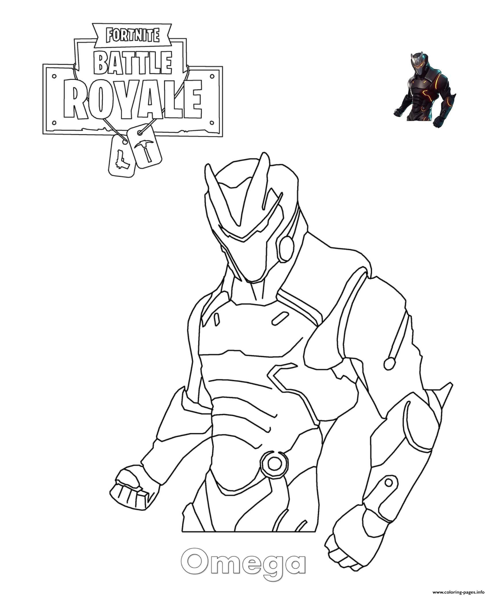 Print Omega Fortnite coloring pages | Cool coloring pages ...