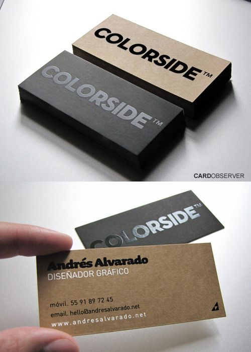 Carte De Visite Minimale Colorside Business Card