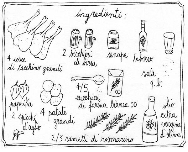 Cosce di tacchino alla birra e senape, paprika e tabasco | |BoBos