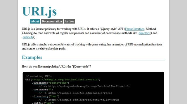 URI js is a javascript library for working with URLs  It