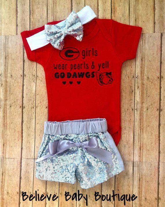 b77c2bf8c uga baby girl, university of georgia baby, uga bulldogs baby, uga baby  outfit, uga baby gift , bulld
