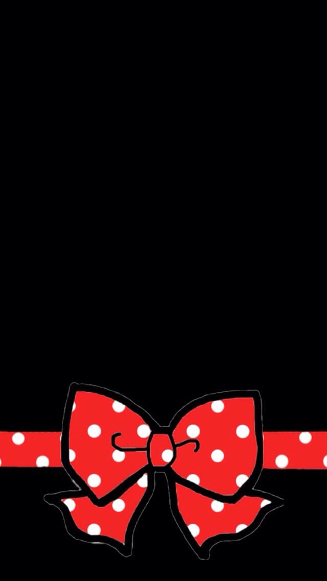 Micky Bow Wallpaper Iphone Love Screen Disney Cellphone