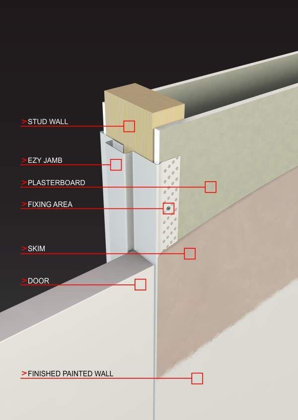 Ezy Jamb Arriva Concealed Hinge Flush Doors Doors Interior Frameless Door