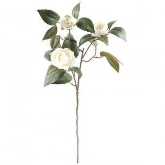 Artificial Cream Camellia Spray Artificial Flowers Ukgd Fake Flowers Artificial Flowers Flowers