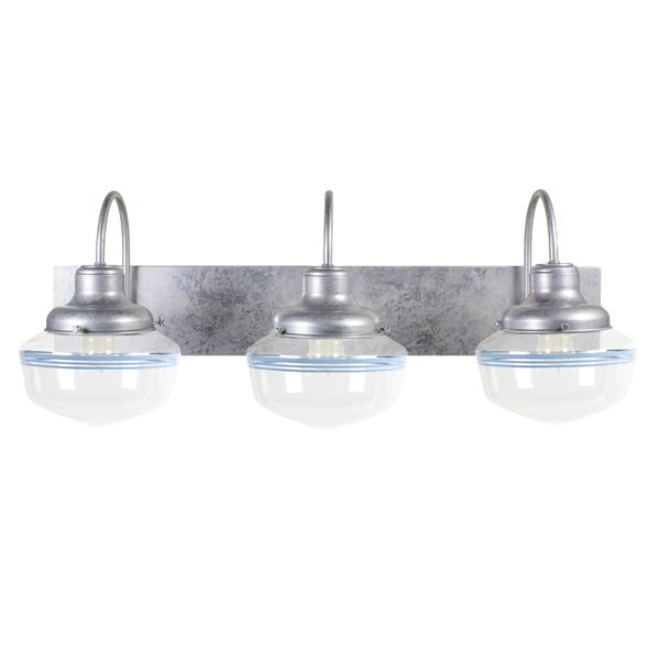 The Sophomore 3 Light Clear Schoolhouse Vanity Light Barn Light Electric Co Vanity Lighting Vintage Wall Sconces Eclectic Light Fixtures