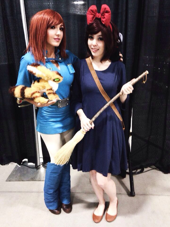 nausicaa and kiki cosplay by jessica nigri and monika lee