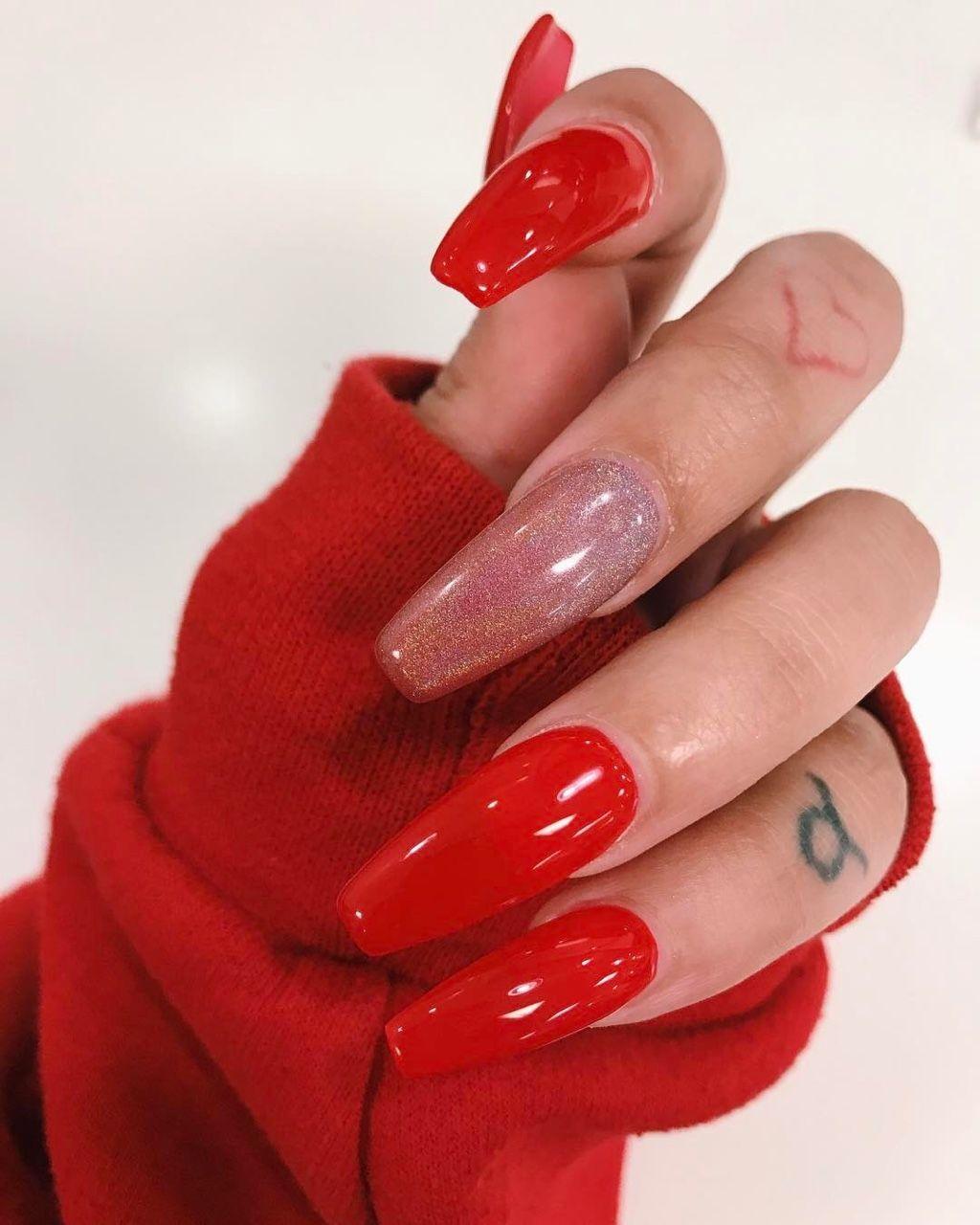 youre lovely | Lange rote nägel, Lange nägel, Nageldesign