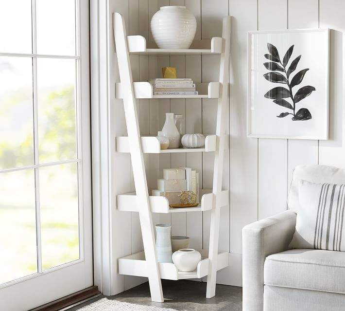 10 Ways To Make The Best Use Of A Ladder Shelf Ladder Shelf Decor Shelves Corner Shelves