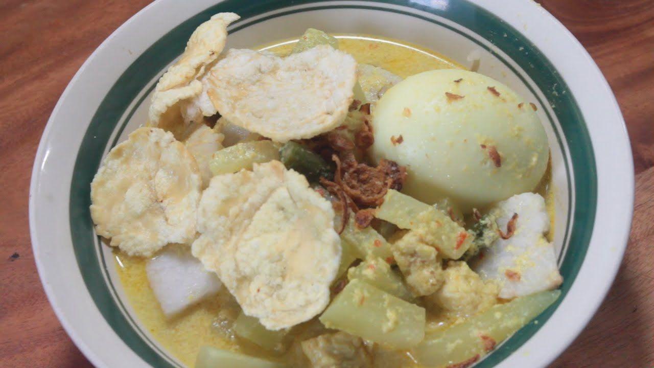 Sayur Lodeh Ketupat Atau Lontong Makanan Resep Masakan Sarapan