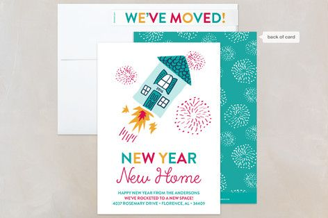 new year new home holiday cards moving announcement cards
