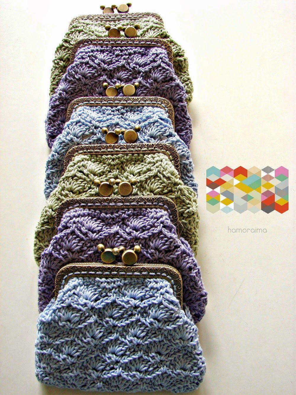 Monederos De Crochet Hamoraima Pinterest Monederos Ganchillo - Monederos-ganchillo