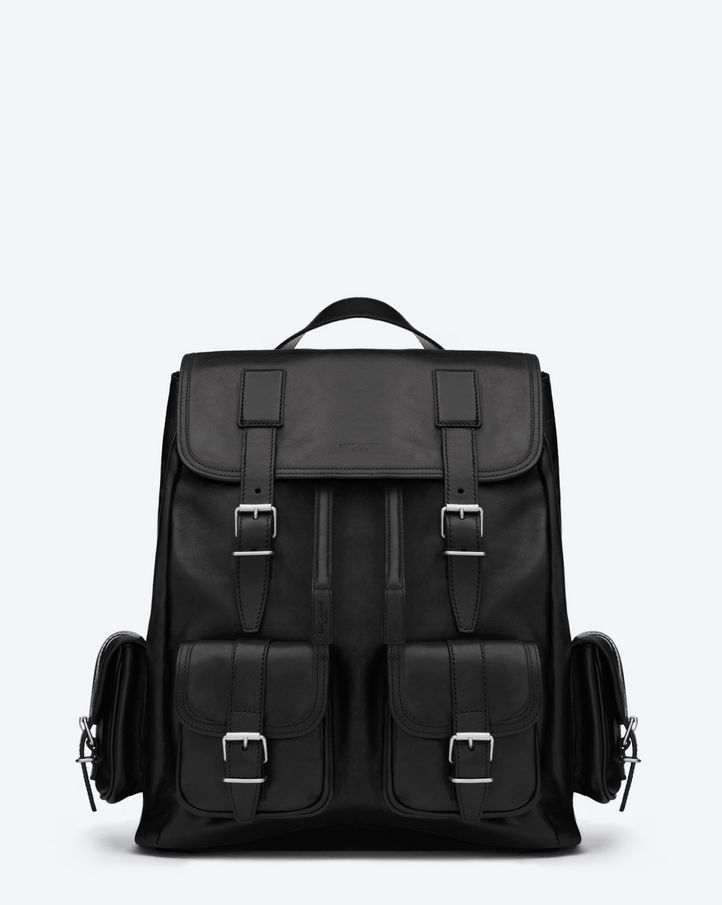 d692bb429b34 Saint Laurent Rock Backpack In Black Leather