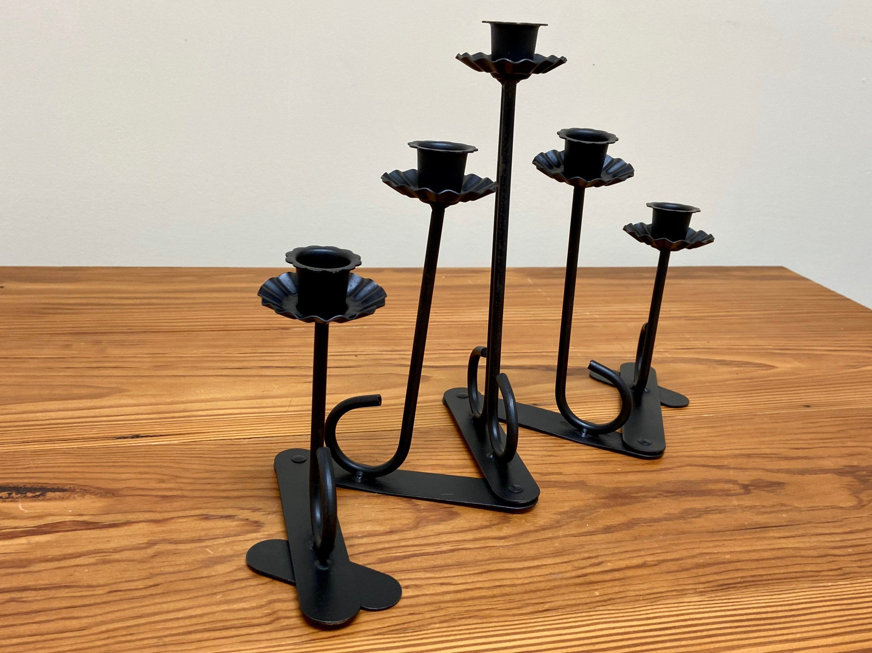 Excited To Share The Latest Addition To My Etsy Shop Expandable 5 Arm Candle Holder Black Wrought Iron Acc Metal Candelabra Candlestick Holders Candlesticks