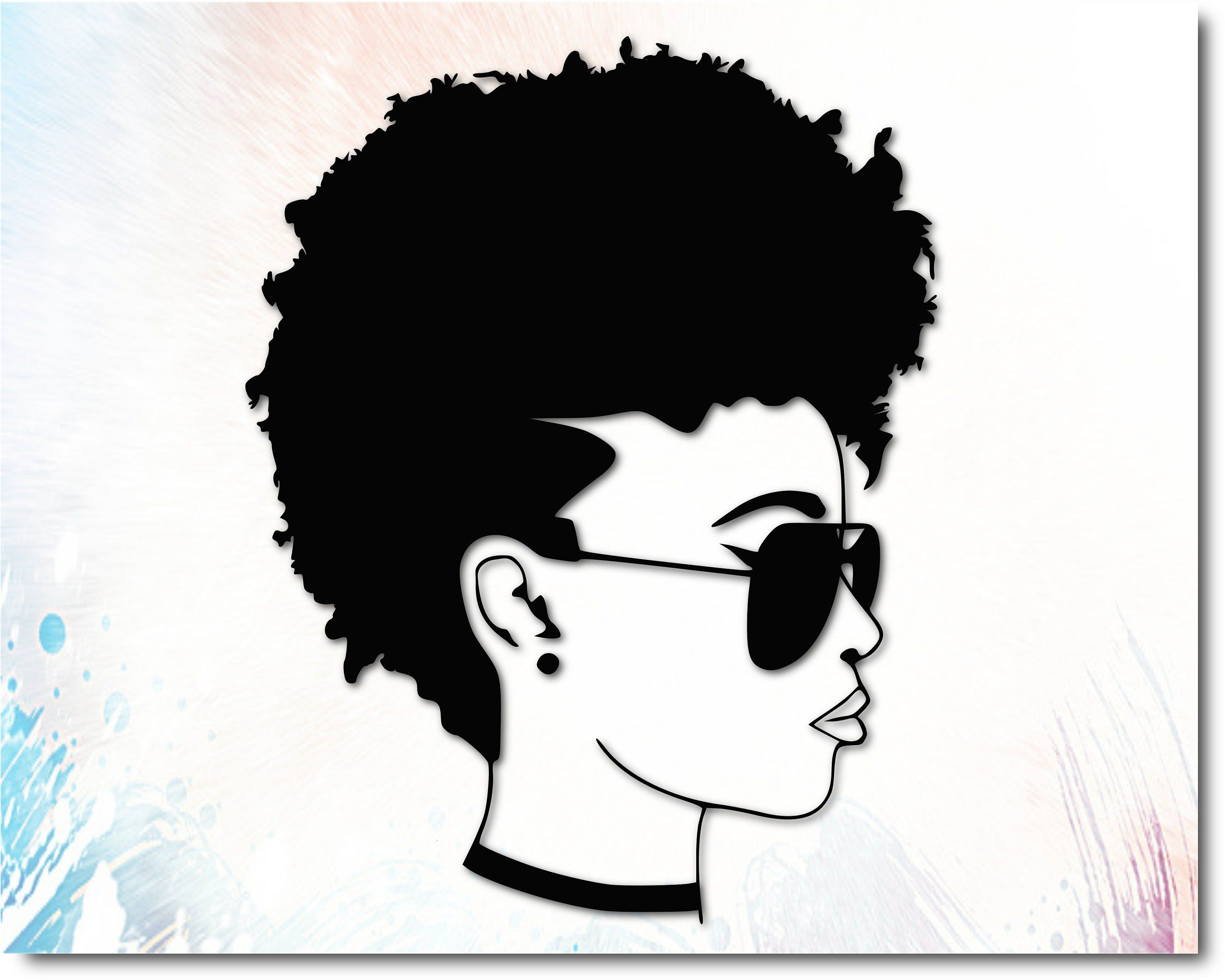 Afro Silhouette Black Woman Svg African American Svg Queen Svg Printable File Cricut Silhouette Silhouette Art Black Woman Silhouette Silhouette Clip Art