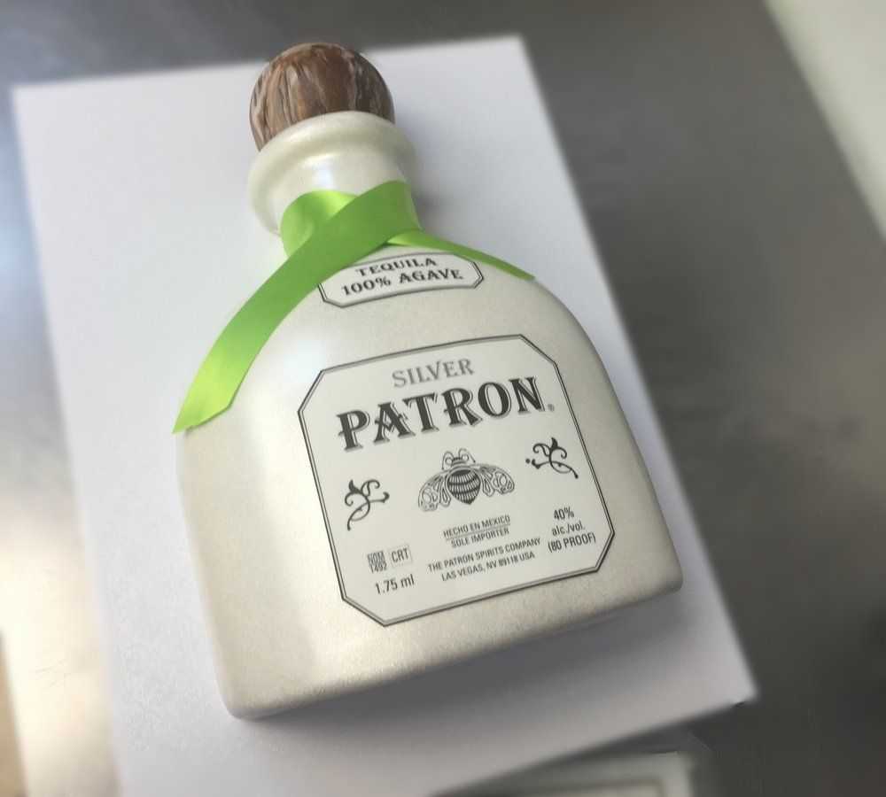 Patron Birthday Cake Men