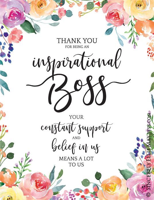 Best Boss Gifts Quotes - Inspirational Boss YOU PRINT Printable great as Wall Art Posters to show Appreciation to your Boss 40198 #bossesdaygiftideasoffices