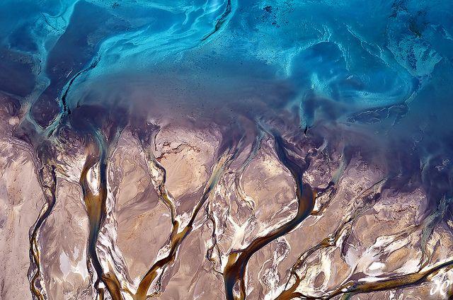 6,000 feet above the Godley River Delta at Lake Tekapo on the South Island of New Zealand ~ photo by Joshua Cripps