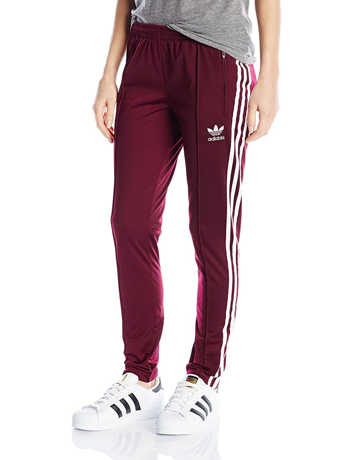31e2389f27e2c Amazon.com  adidas Originals Women s Superstar Track Pant  Clothing ...