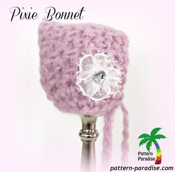 Pixie Bonnet Free Pattern by Pattern-Paradise.com | Mutsen ...