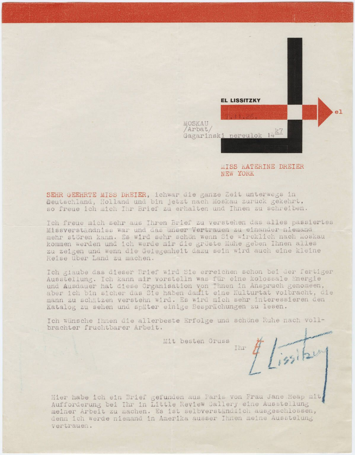 El Lissitzky Lettering Rare Books The Mind S Eye