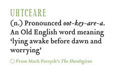 Uhtceare | Vocabulary | Old english words, English word