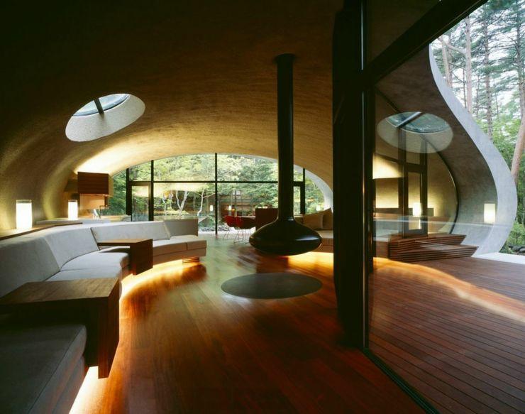 Maison moderne japonaise à l\'architecture futuriste à Nagano ...