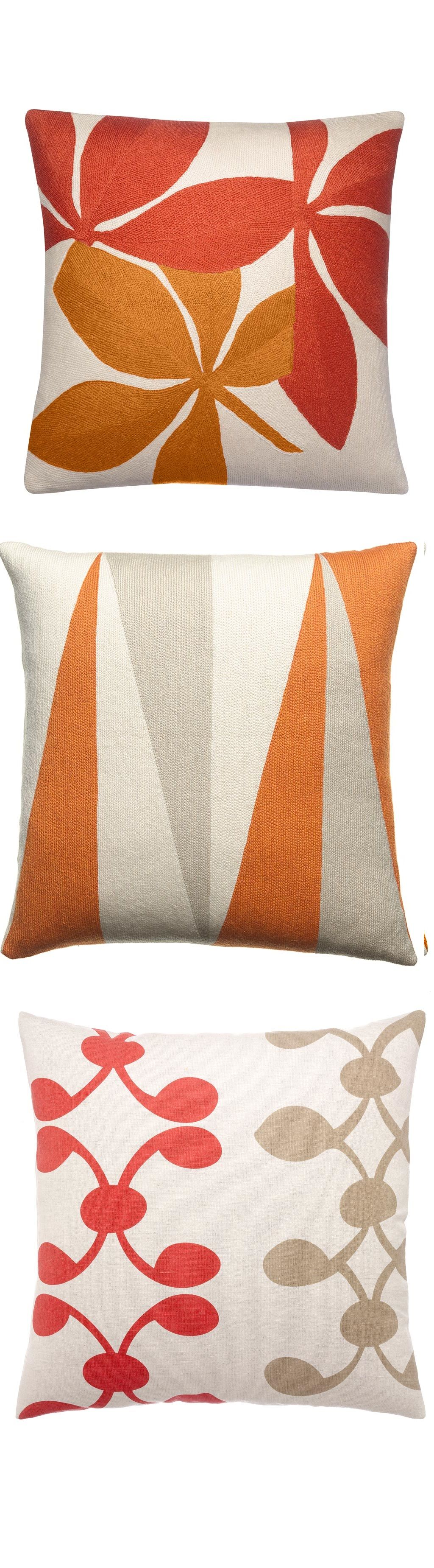 one tropical orange decorative striped cover quality outdoor pillows accent case pin throw pillow