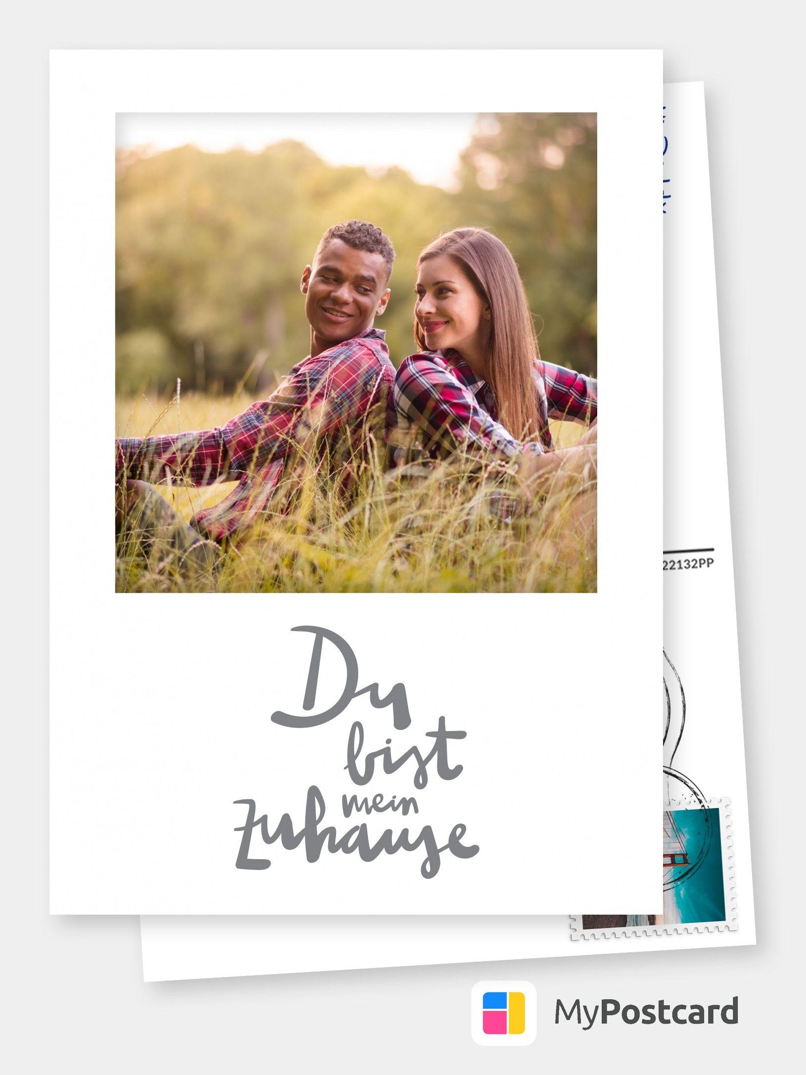 Zuhause Liebeskarten, Urlaub grüße und Postkarten