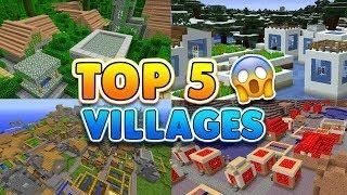 TOP 5 SECRET VILLAGE SEEDS in Minecraft! (Pocket Edition, Xbox, PC