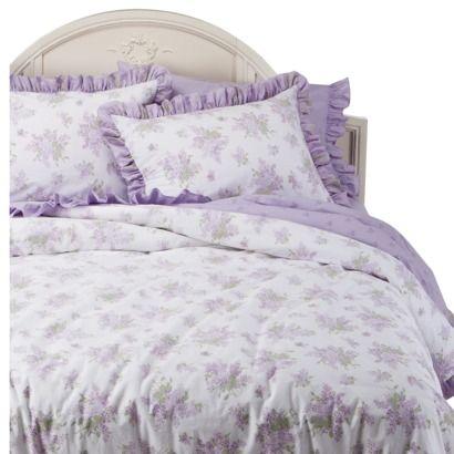 rachel ashwell simply shabby chic lilacs duvet set lavender king new