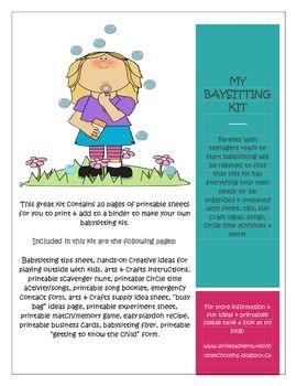 how to make a babysitting flyer online Mersnproforumco