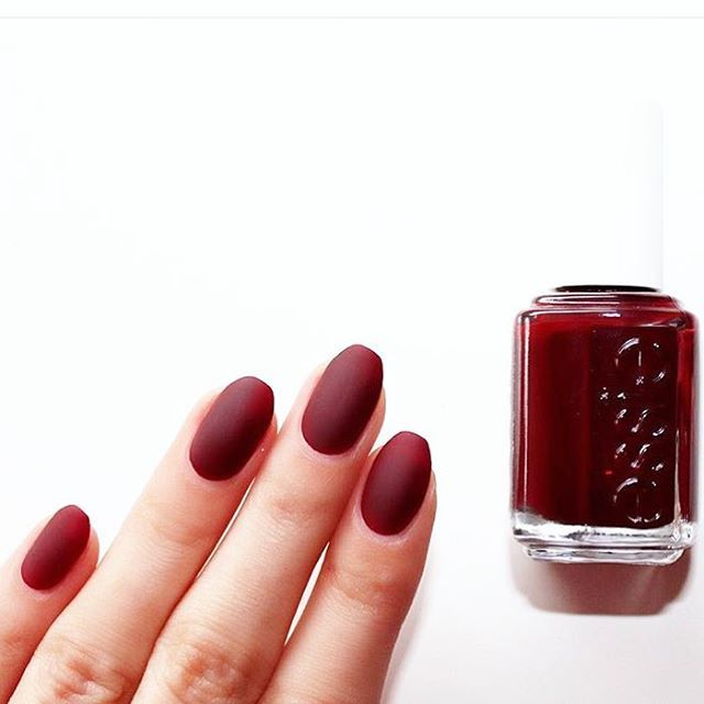 Instantly transform your \'berry naughty\' mani with essie \'matte ...